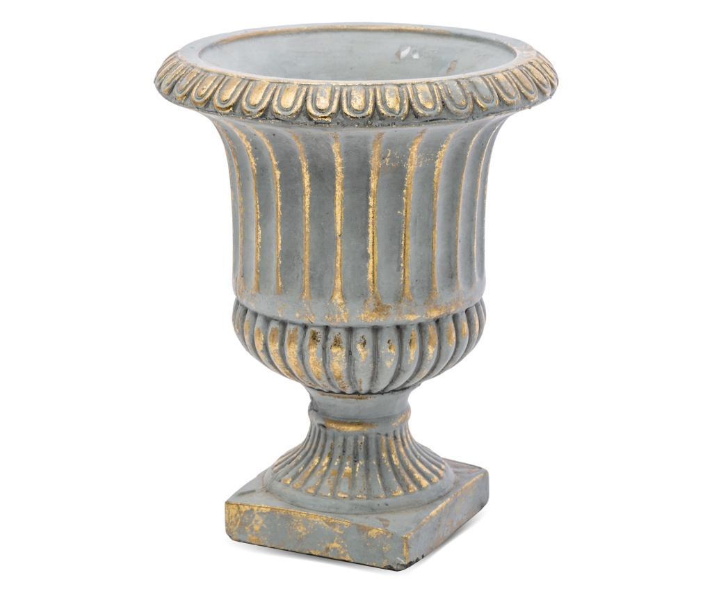 Pocal ceramica, gri/auriu, 24x19 cm