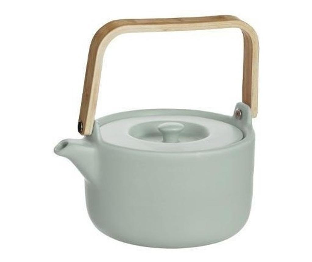 Ceainic infusor Sapporo, verde, ceramica, 800 ml