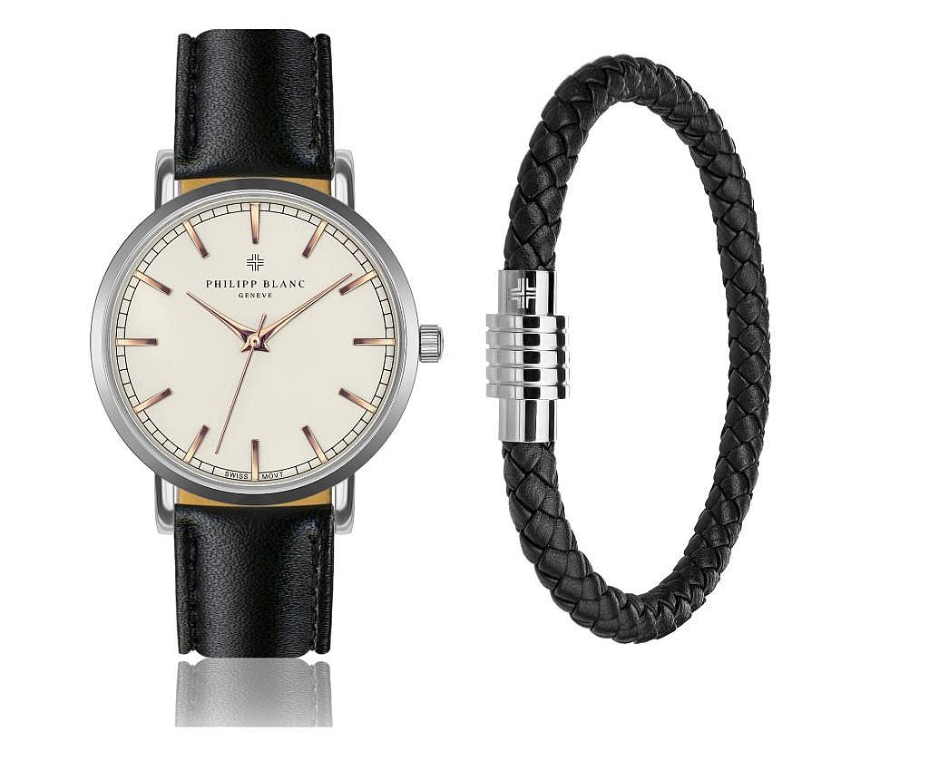 Set de ceas si bratara pentru barbati Basel