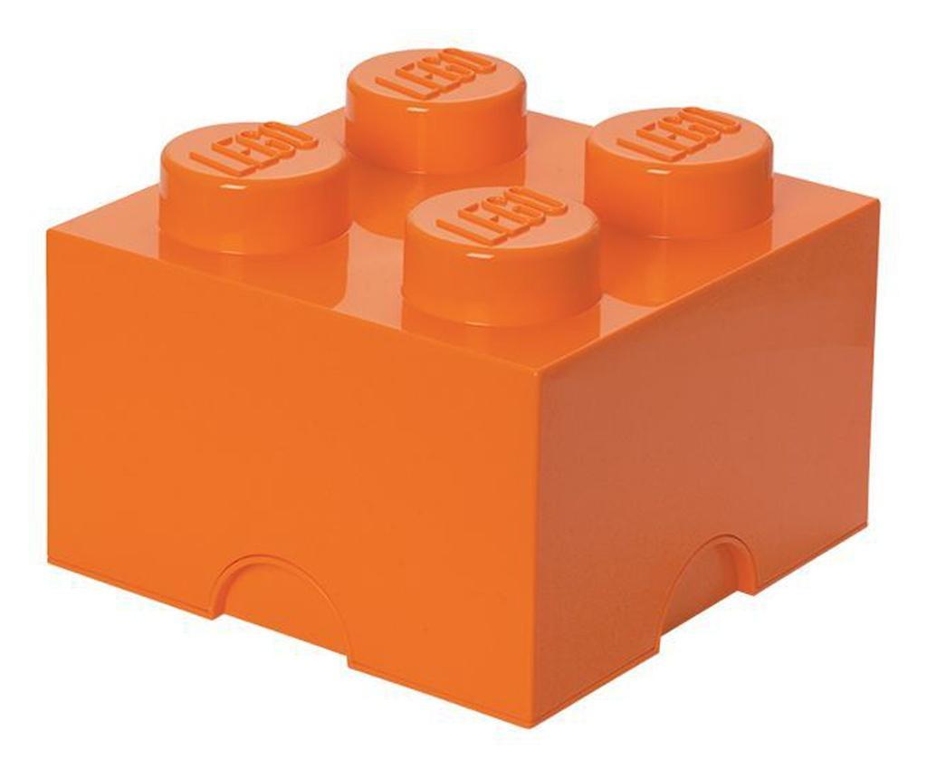Cutie depozitare LEGO 2x2 portocaliu
