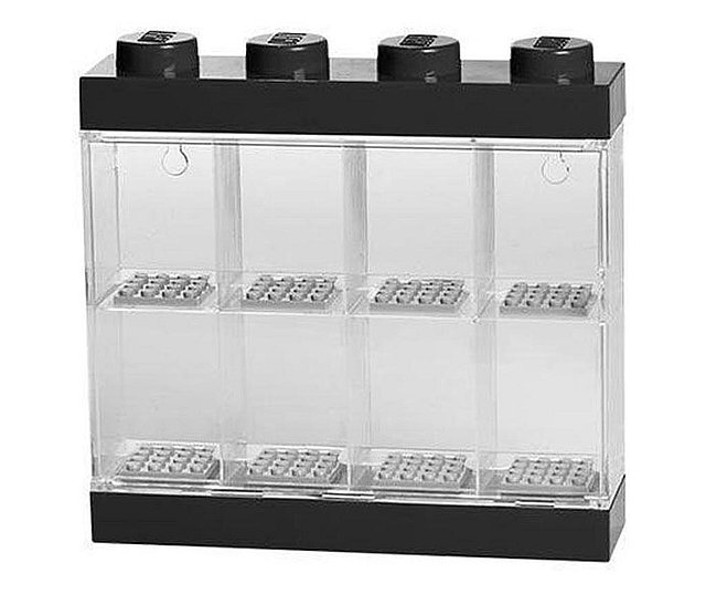Cutie neagra pentru 8 minifigurine