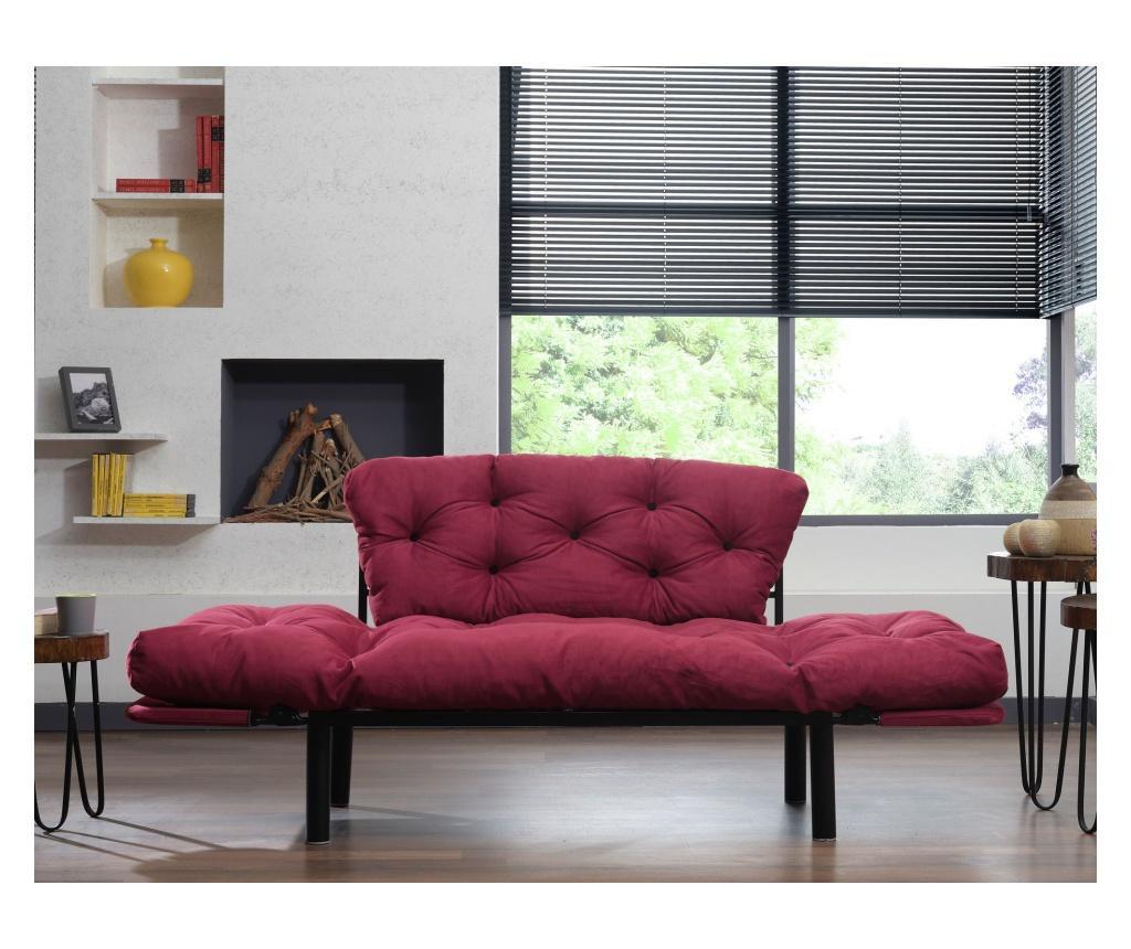 Canapea extensibila cu 2 locuri Nitta Dark Red
