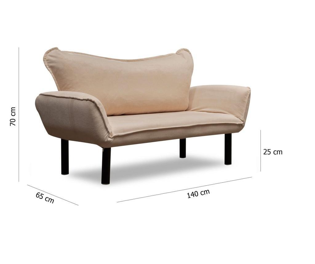 Canapea extensibila cu 2 locuri Carla Cream