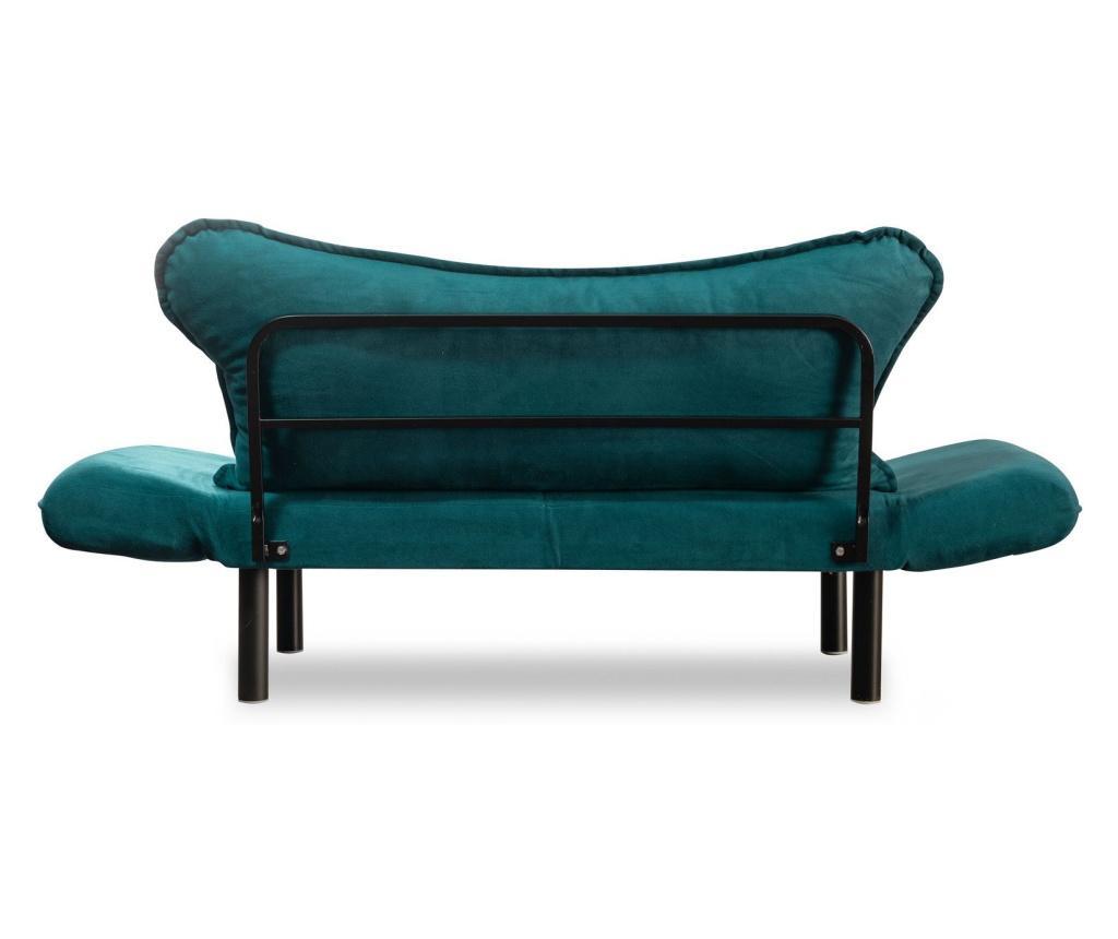 Rozkładana kanapa 2-osobowa Carla Blue Petrol
