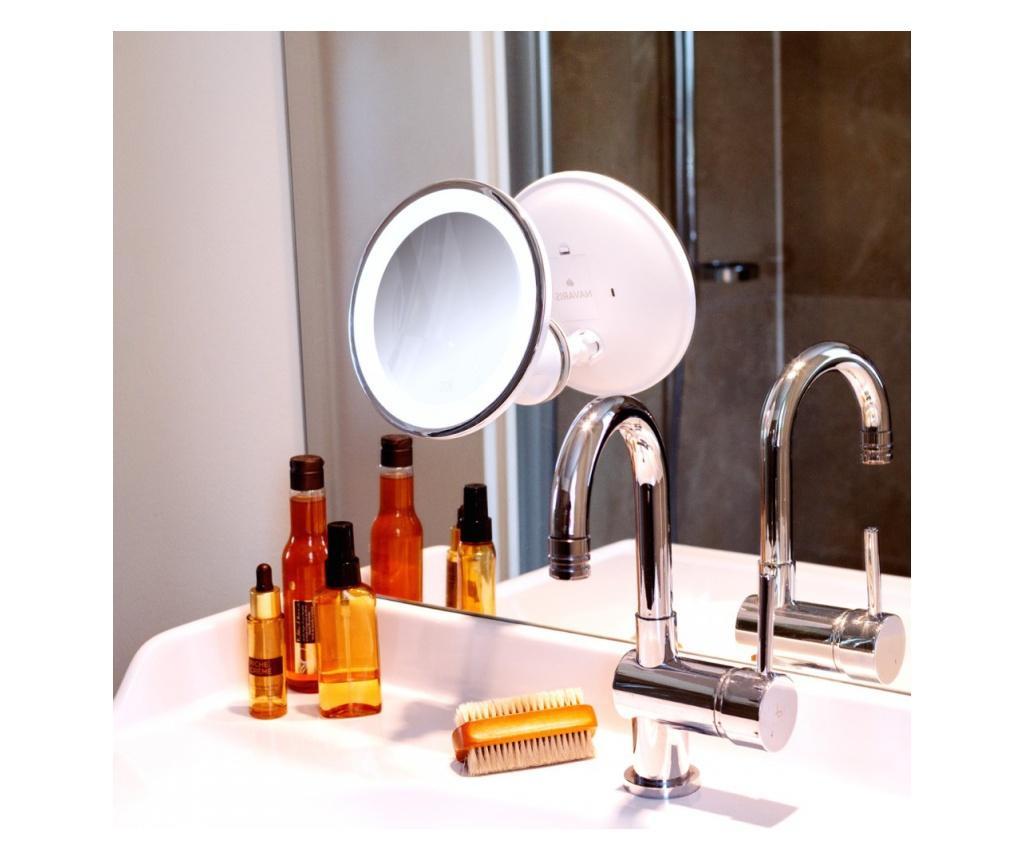 Oglinda Cosmetica cu ventuze, Iluminare LED, marire 7x, reglabila, 44871.02