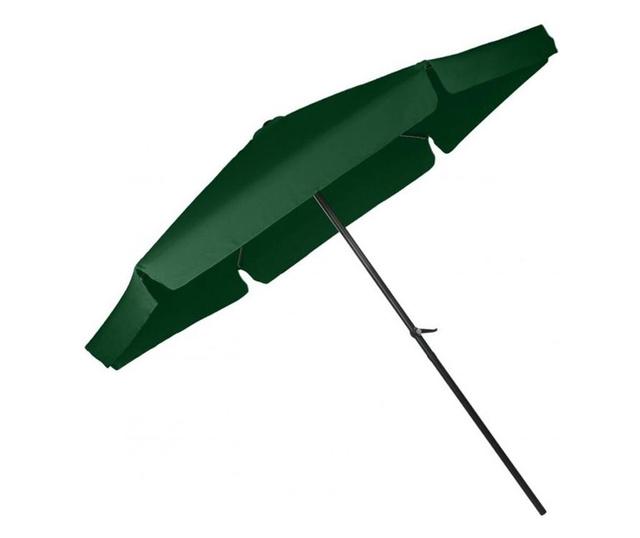 Umbrela Mare de Gradina cu Manivela Bigshot CUBR300-GREEN, Cadru Solid, Diametru 3 m, Verde