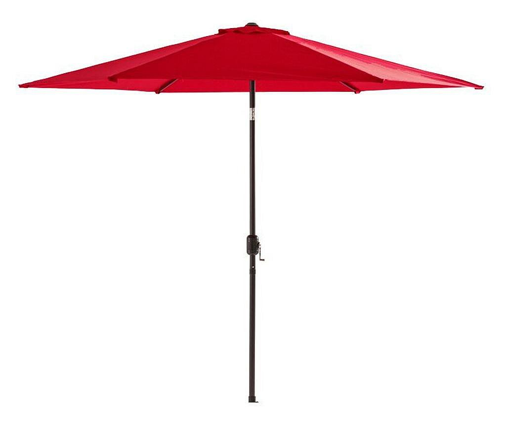 Umbrela terasa gradina, cu manivela si inclinare, GU18E, rotunda 300cm, Rosu