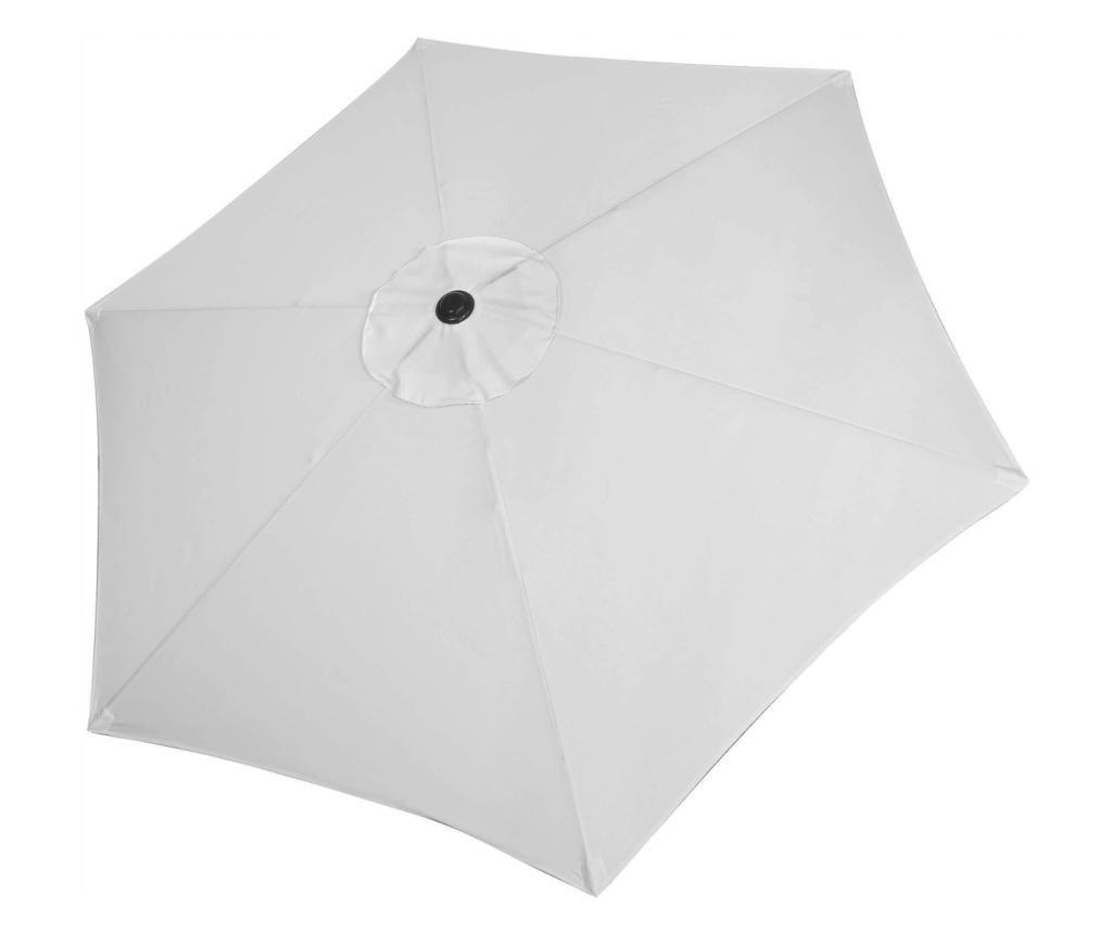 Umbrela terasa gradina, cu manivela si inclinare, GU12E, diametru 260cm, Gri