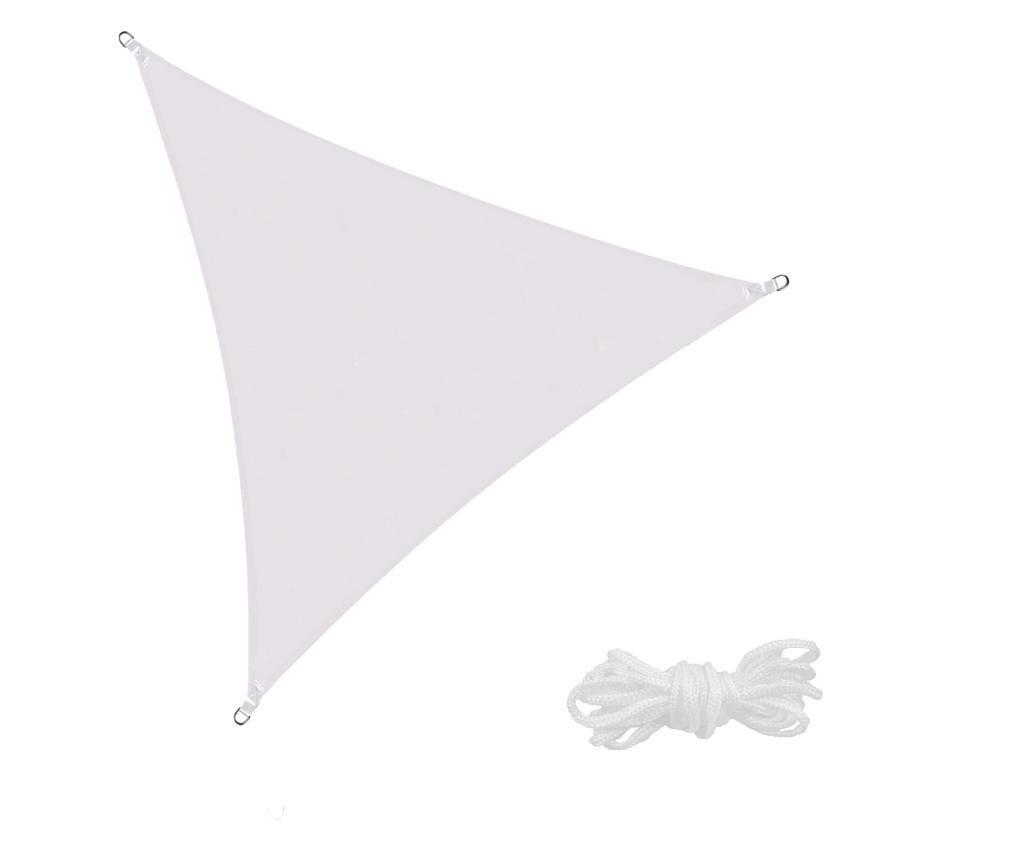 Prelata de soare Sersimo SN114, triunghiulara, impermeabila cu protectie UV, 5x5x5m, gri deschis